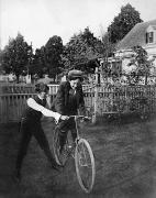 Bicycling Photos - BICYCLING, EARLY 1900s by Granger