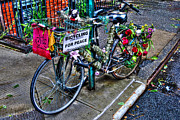 Bicycling Photos - Bicycling For Peace by Randy Aveille