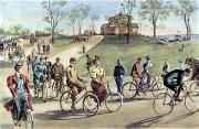 W.a. Prints - Bicycling Print by Granger