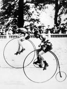 Penny Farthing Photo Acrylic Prints - BICYCLING RACE, c1890 Acrylic Print by Granger