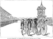 Spectator Prints - Bicycling Tournament, 1885 Print by Granger