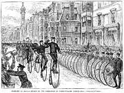 Penny Farthing Prints - Bicyclist Meeting, 1881 Print by Granger