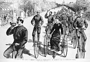 1884 Art - Bicyclist Meeting, 1884 by Granger