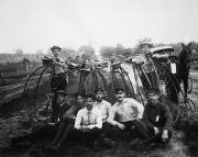 Penny Farthing Photos - BICYLE RIDERS, c1880s by Granger