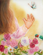 Spiritual Paintings - Big and Small God Blessed Them All  by Joni McPherson
