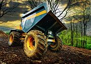 Woodland Photo Posters - Big Bad Dumper Truck Poster by Meirion Matthias