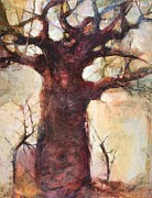 Baobab Paintings - Big Baobab by Wendy Rosselli
