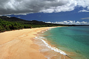 Big Beach Posters - Big Beach Makena Maui Hawaii Poster by Pierre Leclerc