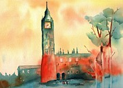 Rainbow Of Colors Framed Prints - Big Ben    Elizabeth Tower Framed Print by Sharon Mick