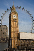 March Digital Art - Big Ben and Eye by Donald Davis