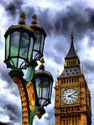 Big Ben And Lamp - Hdr Print by Colin J Williams Photography