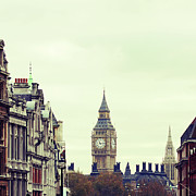 Town Square Photo Prints - Big Ben As Seen From Trafalgar Square, London Print by Image - Natasha Maiolo