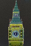 Big Ben Originals - Big Ben Glowing by Charles  Ridgway