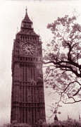 London Prints Posters - Big Ben Poster by Kathy Yates