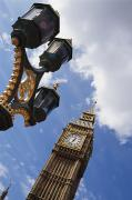 Streetlight Posters - Big Ben & Lamp Post, Close Up Poster by Axiom Photographic