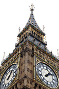 Low Angle View Prints - Big Ben Print by Peter Funnell