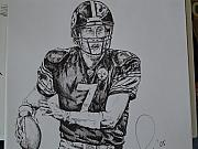 Steelers Drawings - Big Ben  by Raymond Nash