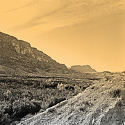 Archive Prints - Big Bend Natinal Park at Sunset Print by M K  Miller