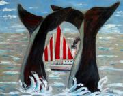 Whale Originals - Big Blue Splash by Charlie Spear