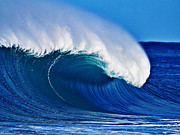 Surf Art Posters - Big Blue Wave Poster by Paul Topp