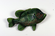 Featured Sculpture Originals - Big Bluegill by Bob Crawford