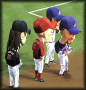Diamondbacks Posters - Big Bobble Heads Poster by Diane Wood