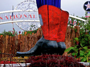 State Fair Photo Prints - Big Boots Print by Angela Wright