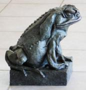 Amphibians Sculptures - Big Boy a large cane toad by Steve Worthington