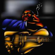 Blues Greeting Cards Posters - Big Boy Poster by Anthony Crudup