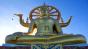 Thailand Photos - Big Buddha at Koh Samui by Charlene Mitchell