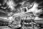 Shrine Photo Originals - Big Buddha in Wat Phra Yai Temple by Anek Suwannaphoom