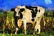 Bovines Posters - Big Bull 2 . 7D12437 Poster by Wingsdomain Art and Photography