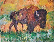 American Bison Originals - Big Bull by Joseph  Giuseppe Santa Maria