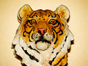 The Tiger Mixed Media Posters - Big Cat Poster by Dennis Dugan