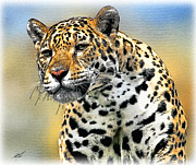 Leopards Digital Art Acrylic Prints - Big Cat Acrylic Print by Tom Schmidt