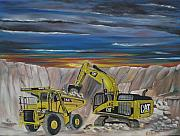 Quarry Paintings - Big CATS by Colin O neill