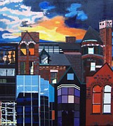 Chimneys Prints - Big City Print by Krista Ouellette