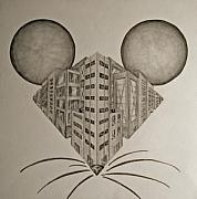 Tiffany Drawings - Big City Mouse by Tiffany Everett