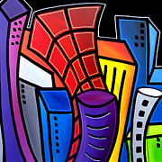 Picasso Paintings - Big City Nights by Tom Fedro - Fidostudio