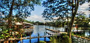 Magnolia Springs Digital Art Originals - Big Daddys Harbor by Michael Thomas