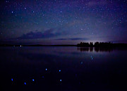 Birch Lake Prints - Big Dipper Reflection Print by Adam Pender
