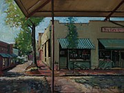 Cafes Painting Posters - Big Eds Cafe Raleigh NC Poster by Doug Strickland