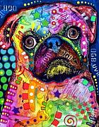 Dean Russo Art Art - Big Eyed Pug by Dean Russo