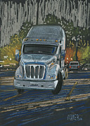 Truck Pastels Prints - Big Fella Print by Donald Maier