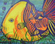 Picturesque Painting Prints - Big Fish In A Small Pond Print by Lee Nixon