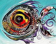 Tropical Fish Painting Originals - Big Fish by J Vincent Scarpace