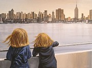 Scott Melby Framed Prints - Big Girls in the Big Apple Framed Print by Scott Melby