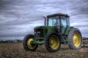 Cornfield Photos - Big Green Tractor by Robert Jones