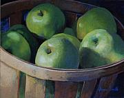 Food And Beverage Pastels - Big Greens by Jeanne Rosier Smith
