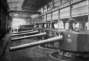 Mechanization Framed Prints - Big Guns 7.5 Inch Naval Gun Turrets Framed Print by Everett